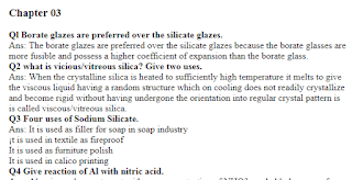 2nd Year Chemistry Chapter 3 Important short Questions