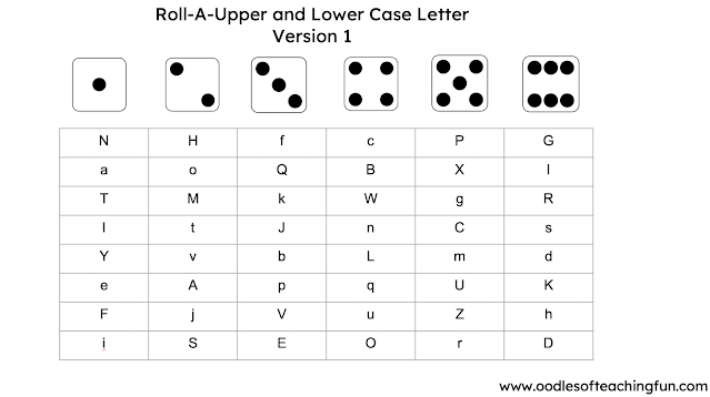 ROLL-A-UPPER CASE LETTER (FREE DOWNLOAD)