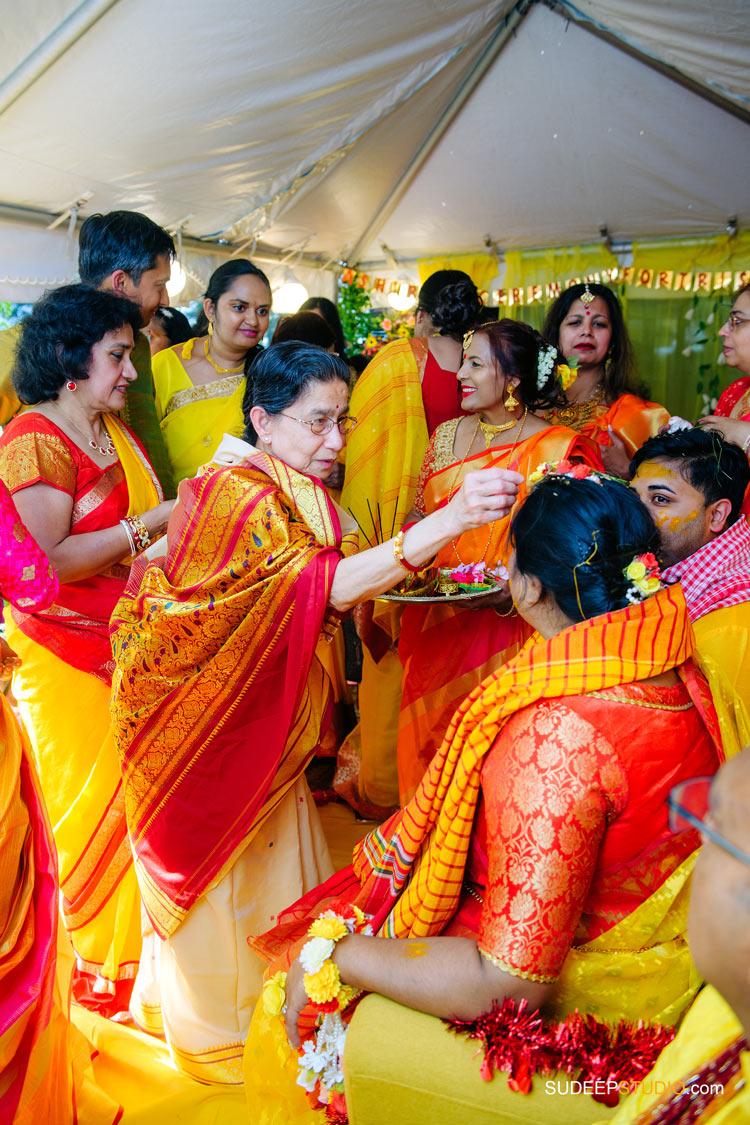 Indian Bengali Wedding Photography Bangla Holud Ceremony by SudeepStudio.com Michigan Ann Arbor South Asian Indian Wedding Photographer