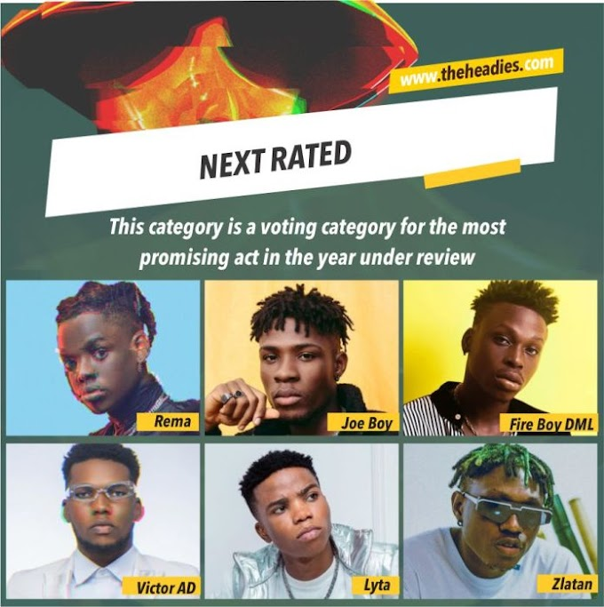 NEXT RATED: Rema, Joeboy, Fireboy, Victor AD, Lyta and Zlatan – Who Deserve The Award ?