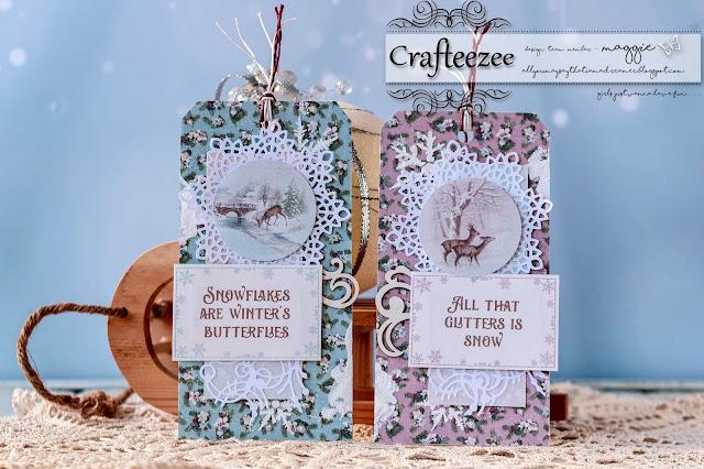 crafteezee shop winter tags. Black Bedroom Furniture Sets. Home Design Ideas