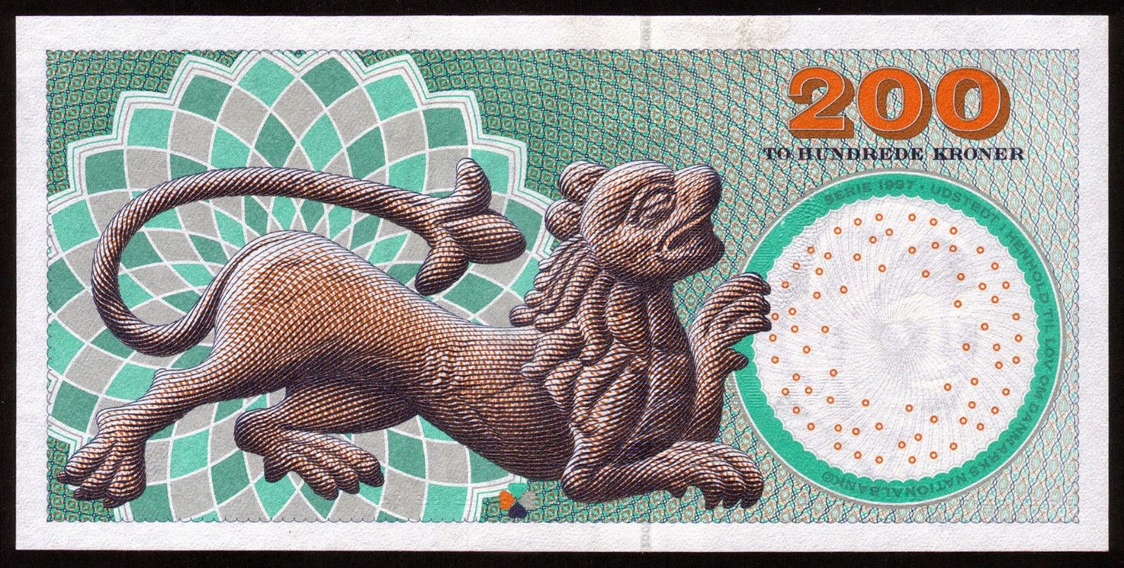 200 Danish Kroner note 2005 Lion