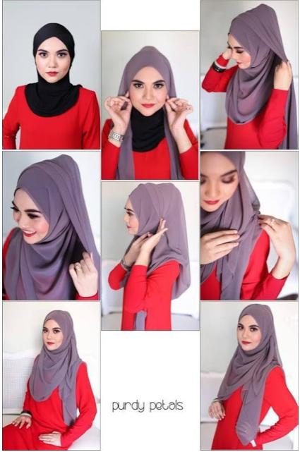 10 Turorial Memakai Hijab Panjang Terbaru 2017 Cara Memakai Jilbab
