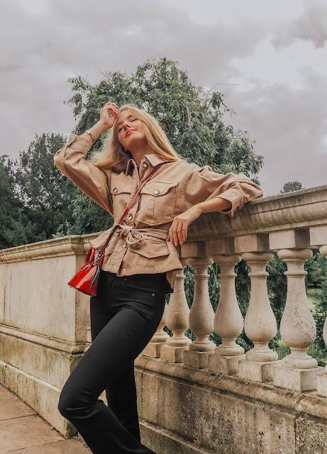 Zara women safari jacket