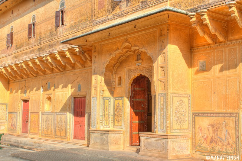 Entrance to One of the Apartment at Madhavendra Palace, Nahargarh Fort, Jaipur.