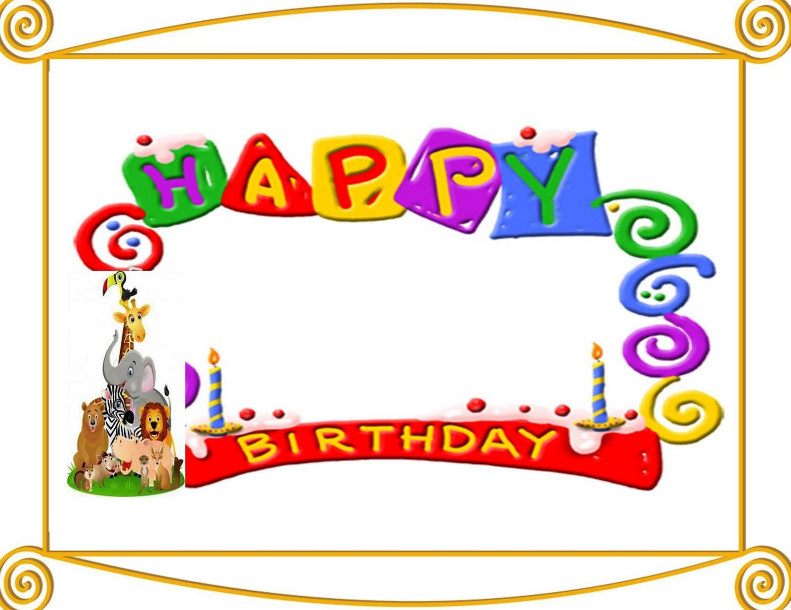Similiar Birthday Border Templates Keywords