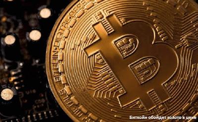 Биткойн обойдет золото в цене
