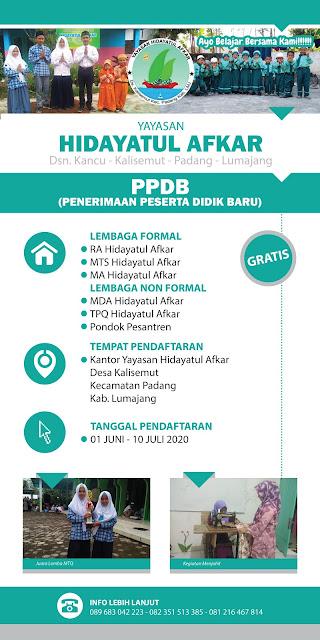 Desain Banner PPDB Pondok Pesantren Hidayatul Afkar Lumajang