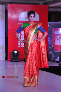 South Indian Celebrities Pos at Love For Handloom Collection Fashion Show  0108.jpg