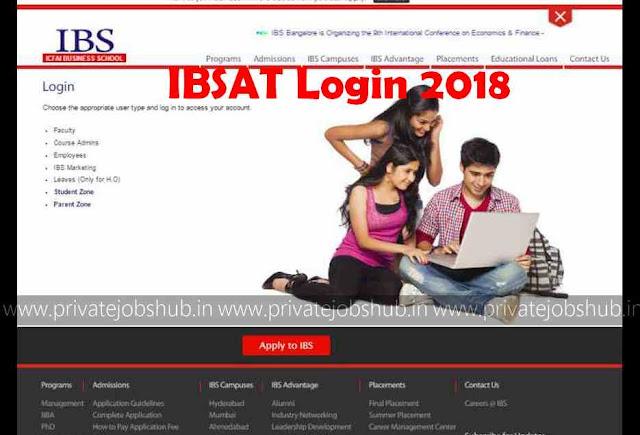 IBSAT Login 2018