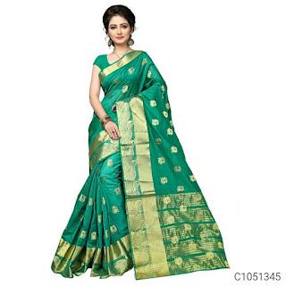 Delicate Banarasi Silk Jacquard Work Saree
