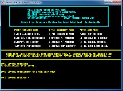Unlock Micloud dan Akun FRP Redmi S2 YSL