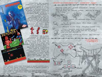 Pagina del libreto del remake de Demonia