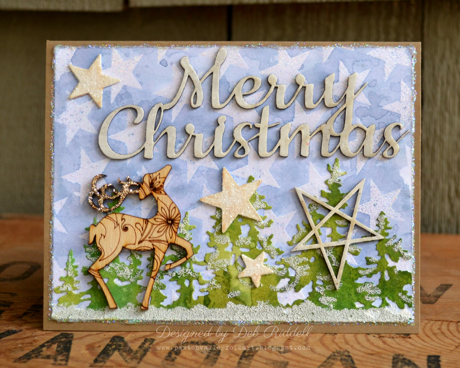 Southern ridge trading company merry christmas prancing deer card deb here today to share a christmas card with you that i made with southern ridge trading companys small marked reindeer small primitive stars m4hsunfo
