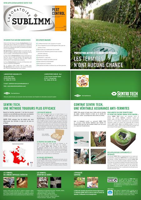 Brochure Sentri-tech représentant le procédé par pièges et appâts contre les termites souterrains