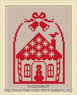 Christmas Ornament 2, Free and easy printable cross stitch pattern