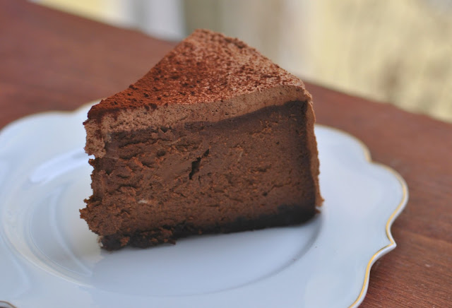 Chocolate Cheesecake mit Cookie Boden