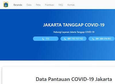 Website Resmi Info COVID-19 Jakarta: https://corona.jakarta.go.id/id