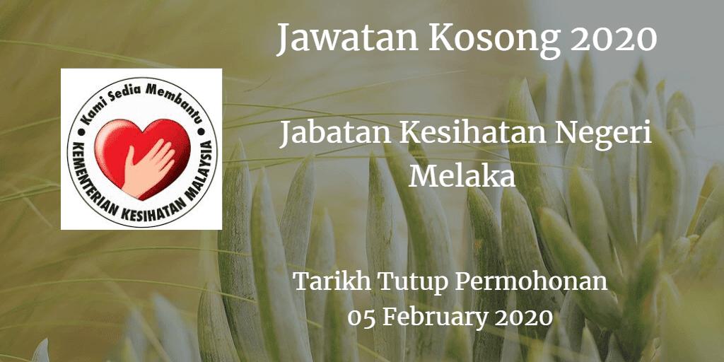 Jawatan Kosong JKN Melaka 05 Feb 2020