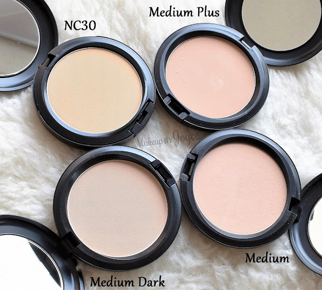 MAC Pressed Powder Collection Comparison Review Differences Medium Dark NC30