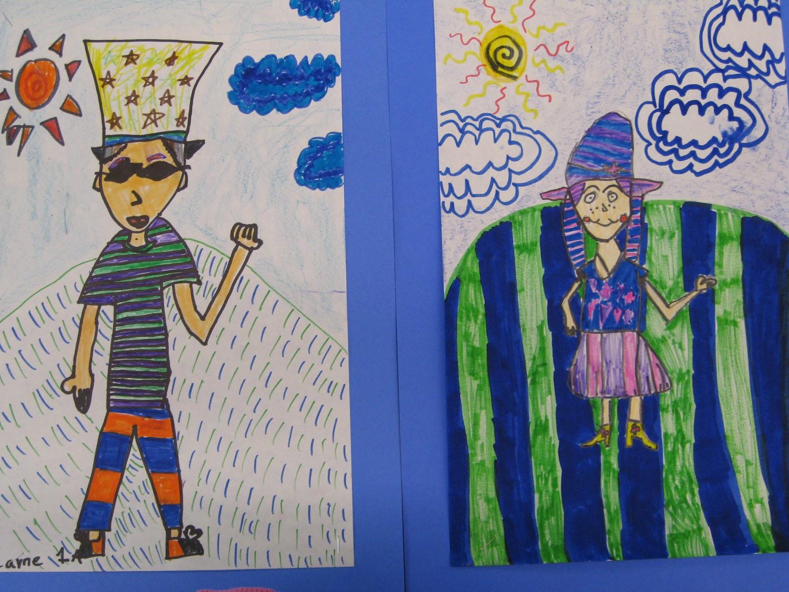 Jamestown Elementary Art Blog 1st Grade Trip To Patternland