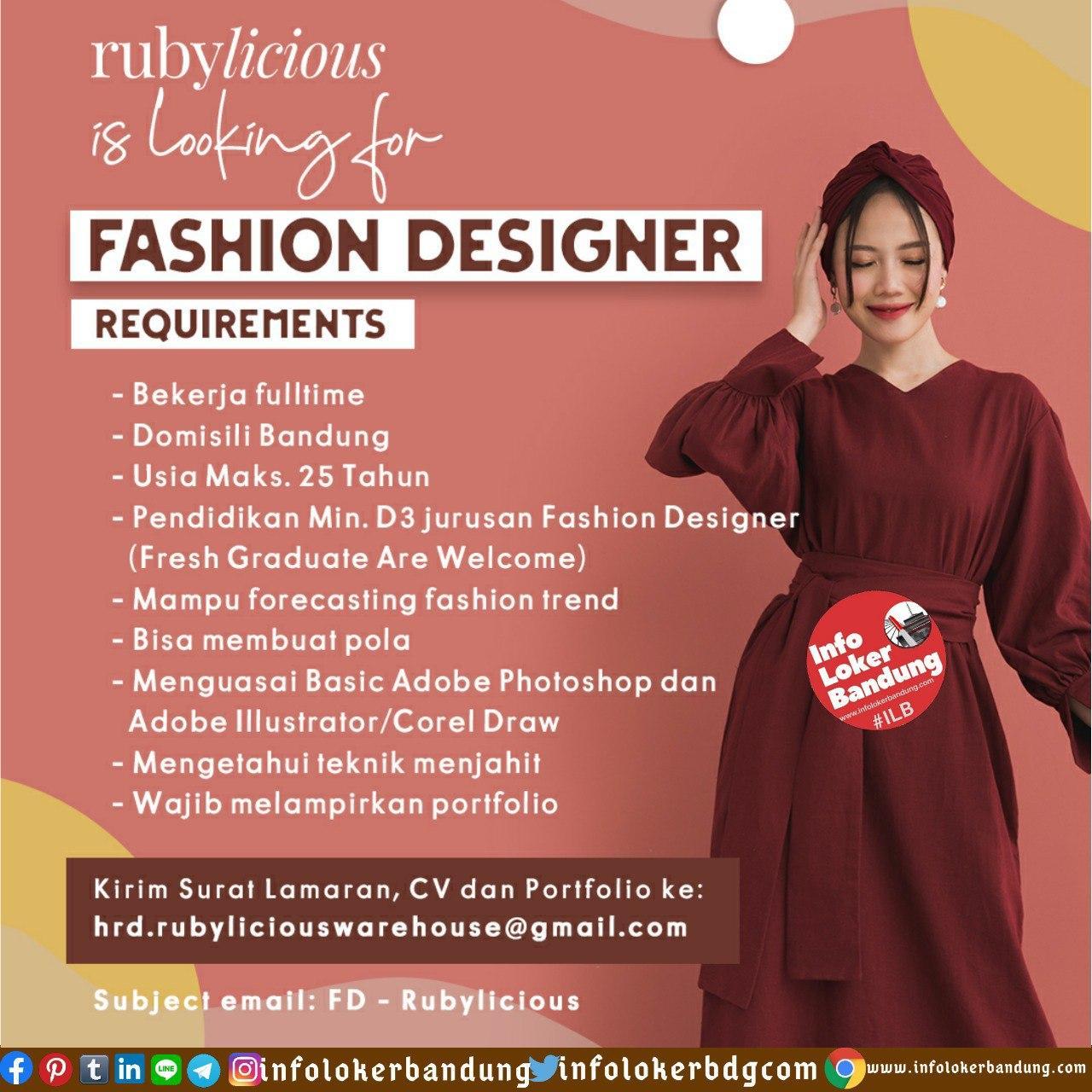 Lowongan Kerja Rubylicious Bandung Juni 2020