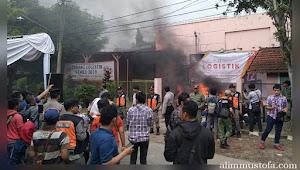 Gudang Logistik KPU Kota Malang Terbakar