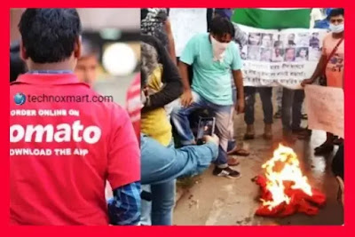 Zomato Staff Burns Organizations T-Shirts To Oppose Investments Of China In The Company