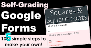 How to make a self-grading Google Form step by step directions and video