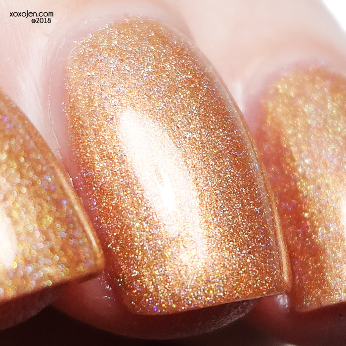 xoxoJen's swatch of Leesha's Lacquer Sand in my Ice Cream