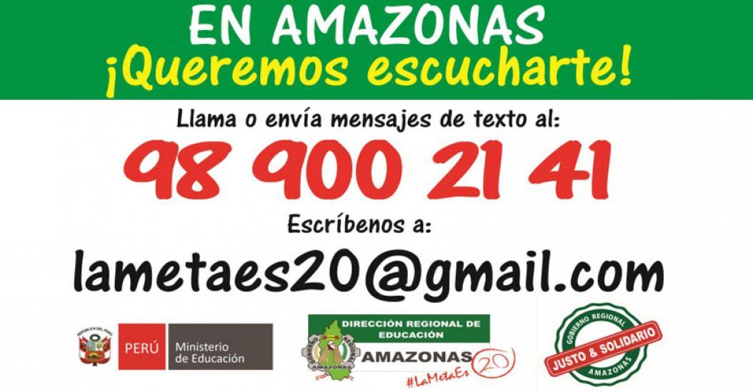 DRE Amazonas habilita línea telefónica para que padres de familia informen si los directores y maestros están cumpliendo sus funciones