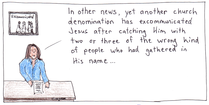 excommunicated. cartoon by robg