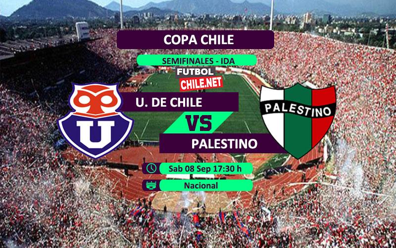 Mira Universidad de Chile vs Palestino en vivo y online por la semifinal ida de la Copa Chile