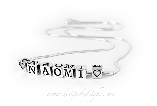 Naomi Name Necklace - .925 sterling silver