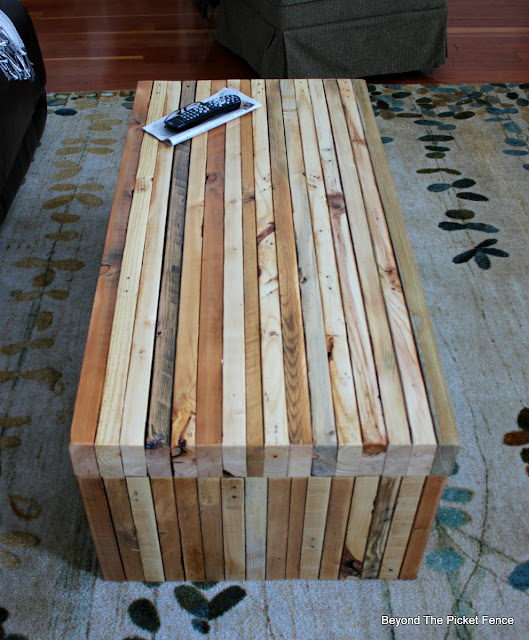 pallet table, salvaged wood, reclaimed, build it, http://bec4-beyondthepicketfence.blogspot.com/2016/02/building-lessons-pallet-coffee-table.html