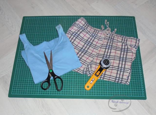 jak zrobić wykrój na spodnie i szorty DIY - Adzik tworzy
