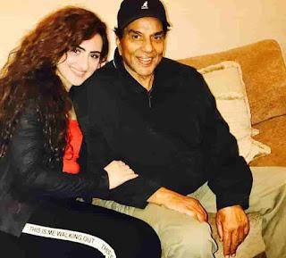 Diana Khan With Dharmendra