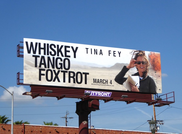 Whiskey Tango Foxtrot movie billboard