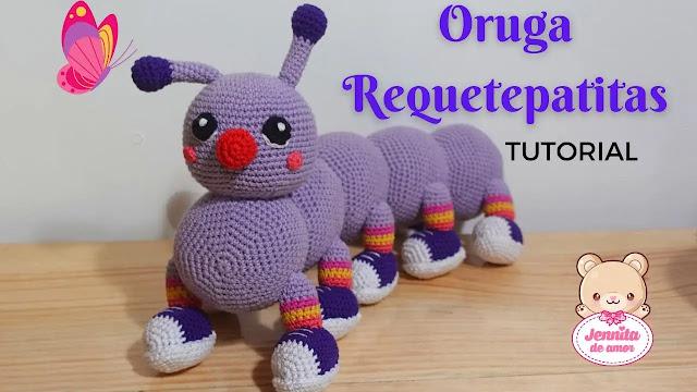 Peluchito Oruga Requetepatita Amigurumi Tejido a Crochet
