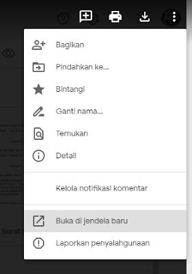 BUka di Jendela Baru File PDF di Google Drive
