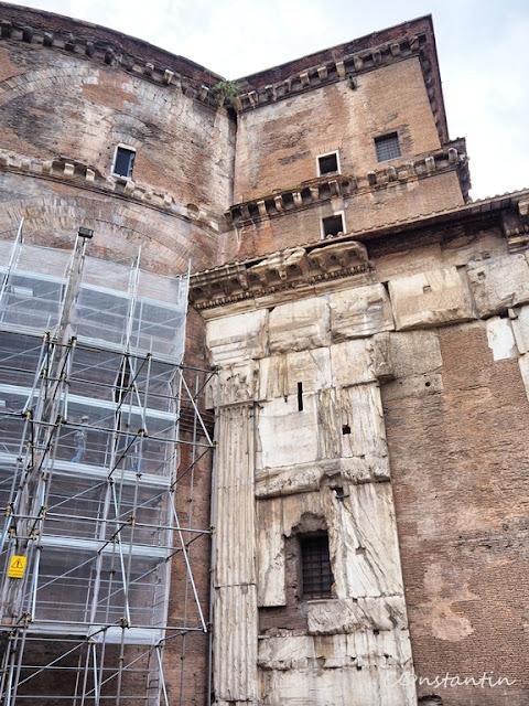 Roma - Clãdirea Panteonului (lateral) - blog FOTO-IDEEA