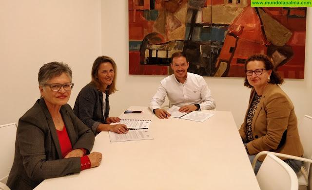 El Cabildo y NEP suscriben el convenio para la gestión de plazas del servicio de estimulación temprana para menores