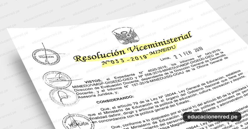 MINEDU publicó Anexos de la Directiva para Nombramiento Docente 2019 y Contratación Docente 2020-2021 (R. VM. N° 033-2019-MINEDU) www.minedu.gob.pe