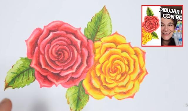 Cómo dibujar rosas a lápiz sin copiar - paso a paso