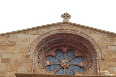 Roseton de la Iglesia de Santo Domingo, románico en Soria capital.