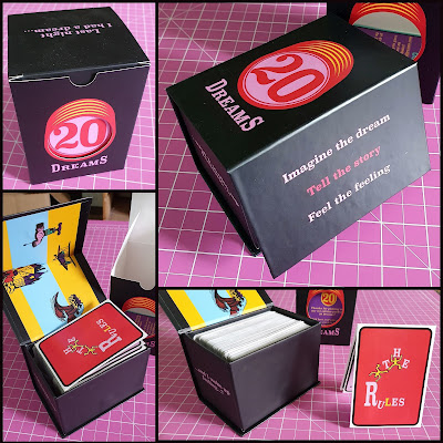 20 Dreams game packaging design in box with magnetic closure