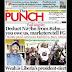 NAIJA NEWSPAPERS: TODAY'S THE PUNCH NEWSPAPER HEADLINES [29 DECEMBER, 2017].