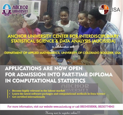 Anchor University PT Diploma in Computational Statistic Form 2019