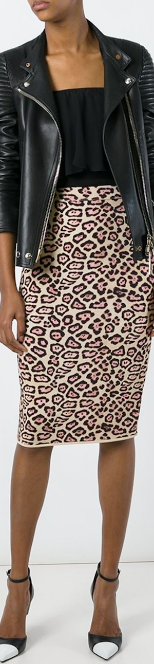 Givenchy Leopard Print Pencil Skirt