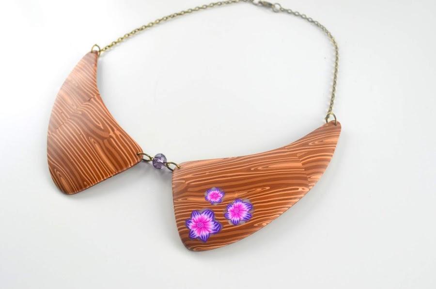 collar imitacion madera